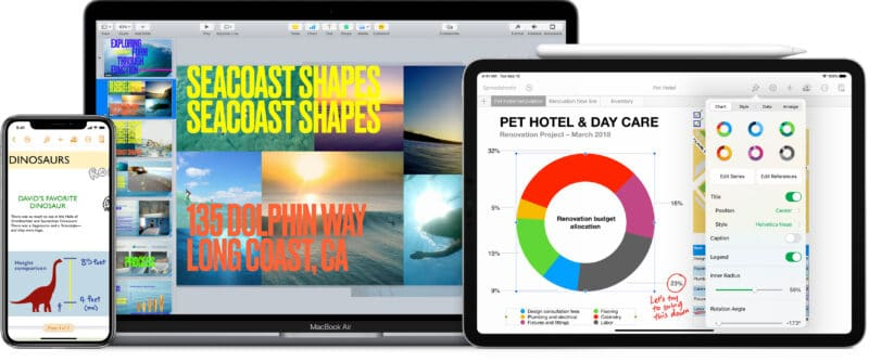 Pages, Numbers e Keynote (iWork)