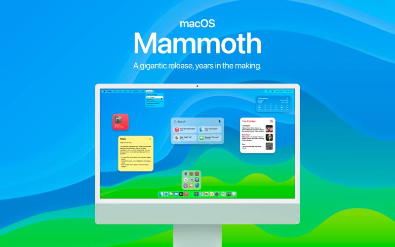 """Conceito de um macOS """"Mammoth"""""""