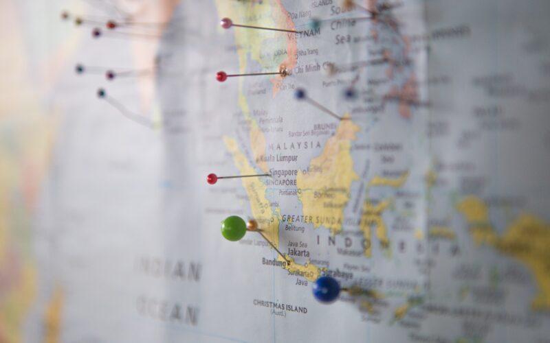 Mapa com localização