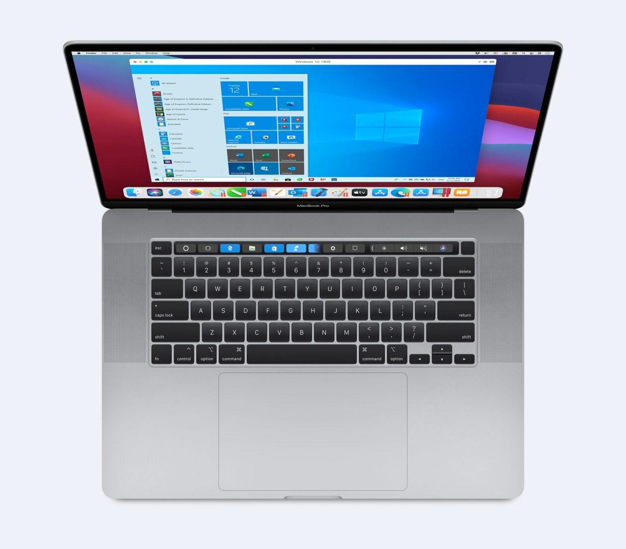 Parallels Desktop no macOS Big Sur