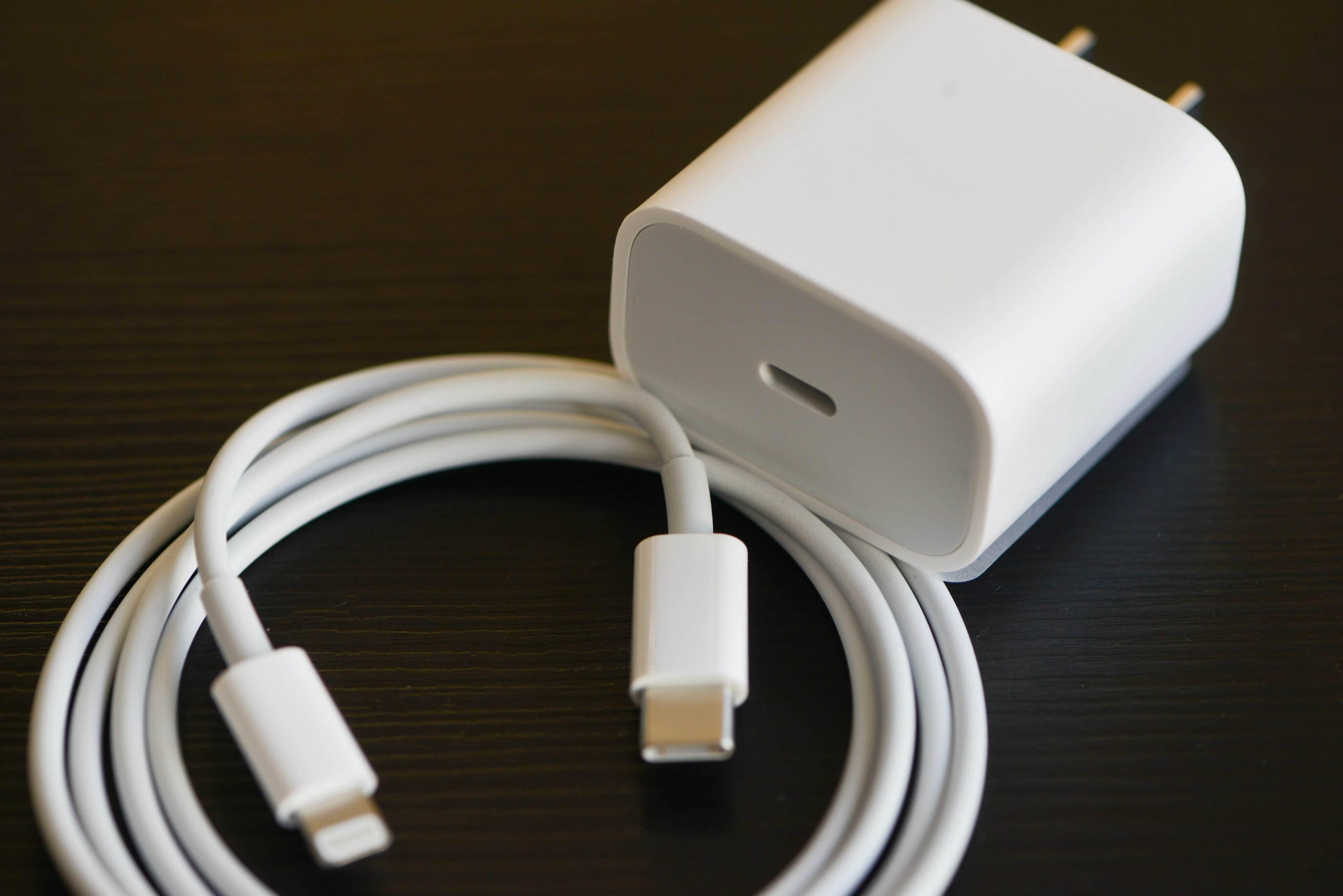 Carregador e cabo do iPhone