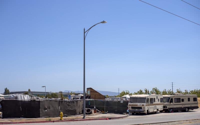 Acampamento de sem-teto em San Jose