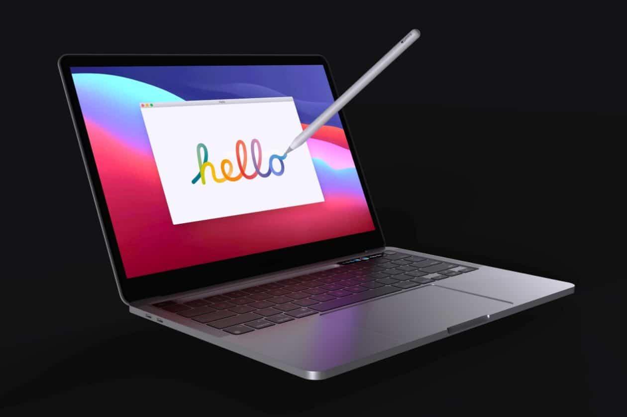 Conceito: Apple Pencil integrado ao MacBook