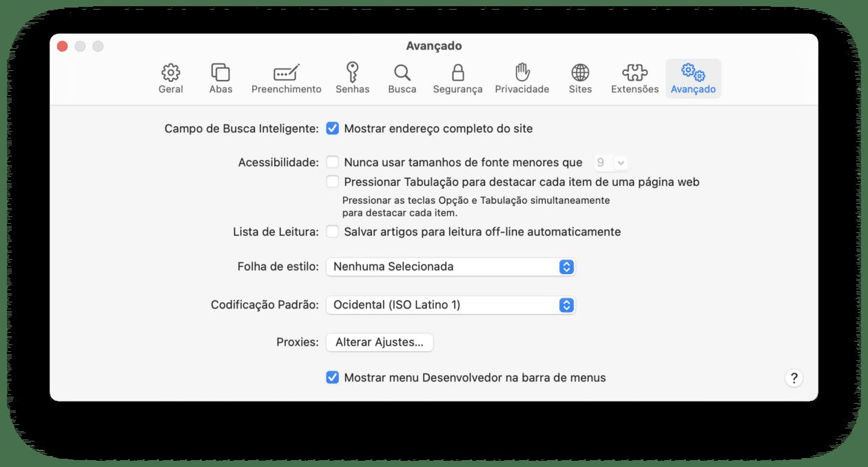 Abrindo abas do Safari em outro navegador