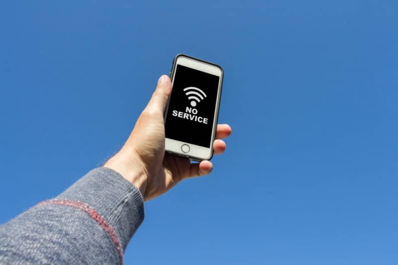 iPhone sem serviço