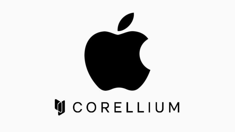Logo da Apple e da Corellium