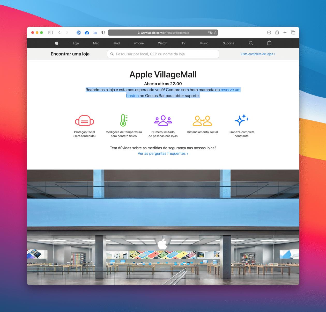 Página da Apple VillageMall