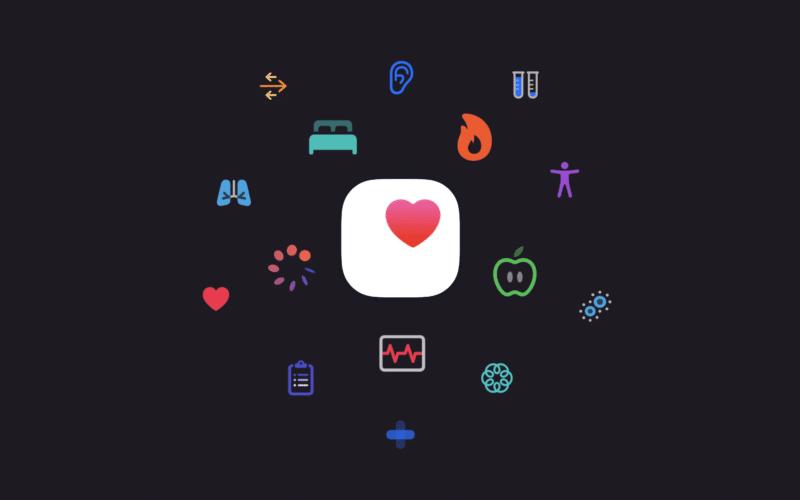 Ícone de saúde da Apple