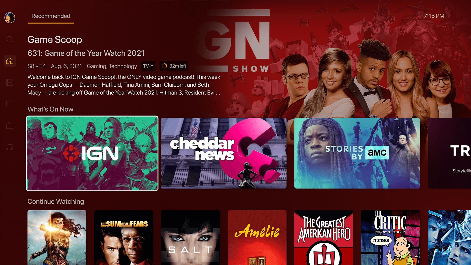 Novo design do Plex na Apple TV