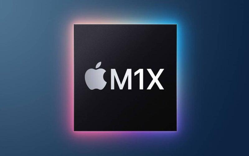 """Ilustração de chip """"M1X"""""""