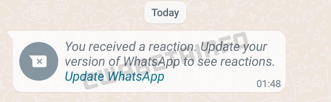 Reações do WhatsApp