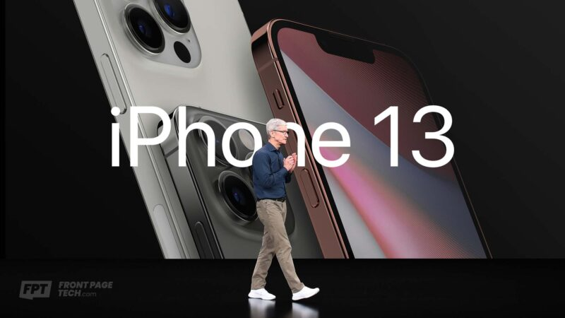 """Montagem do lançamento dos """"iPhones 13"""""""