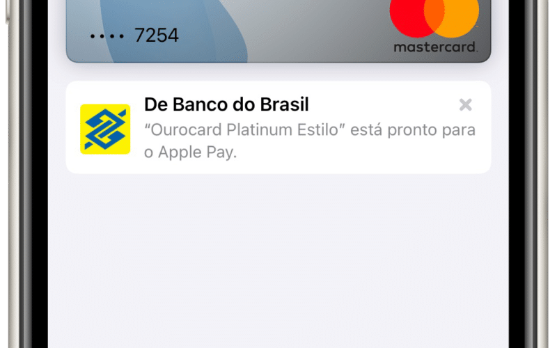 Ourocard Mastercard no Apple Pay