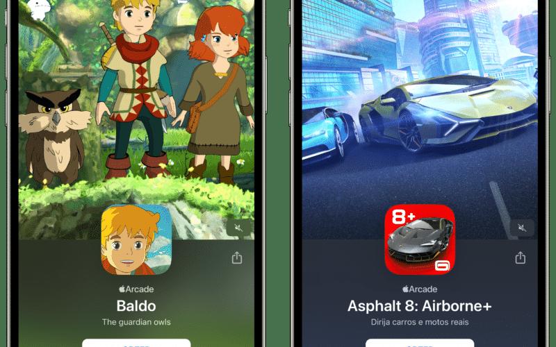 Baldo e Asphalt 8 no Apple Arcade