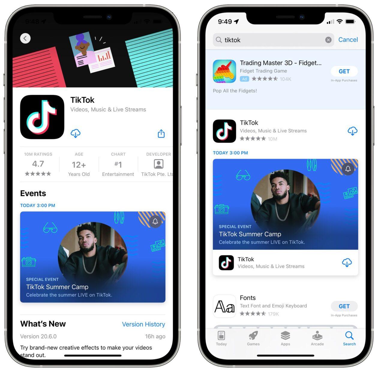 App Store Events TikTok