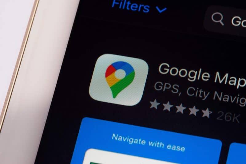 App do Google Maps na App Store do iOS/iPadOS