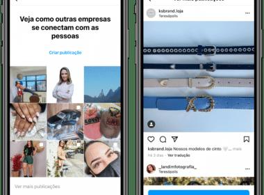 Sugestões empresas Instagram