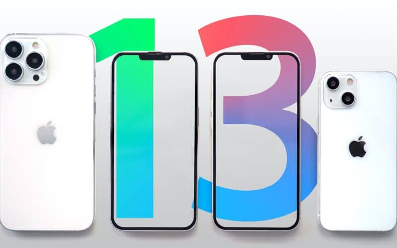"Suposta família de ""iPhones 13"""