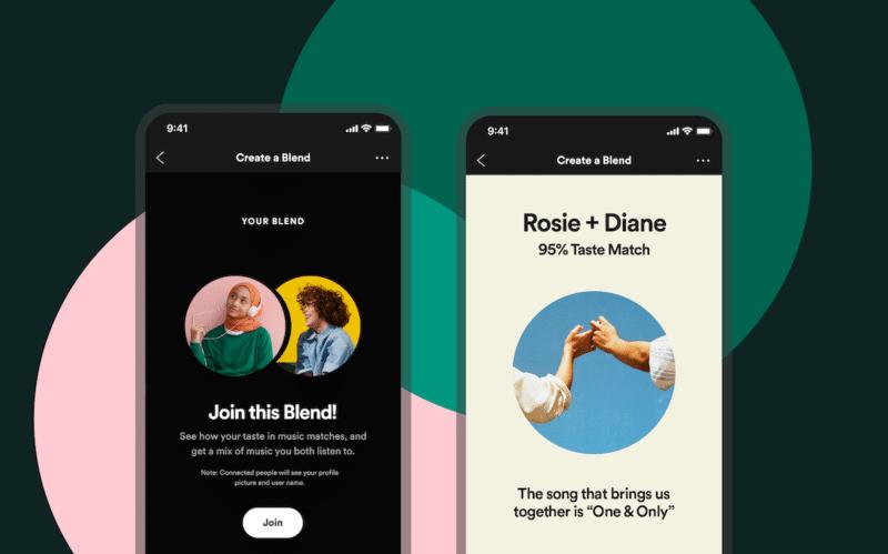 Recurso Match (Blend), do Spotify