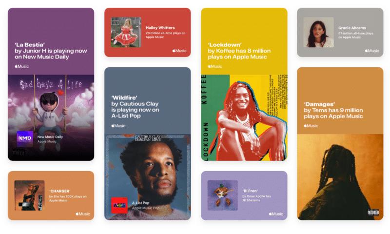 Shareable Milestones, novo recurso do Apple Music for Artists