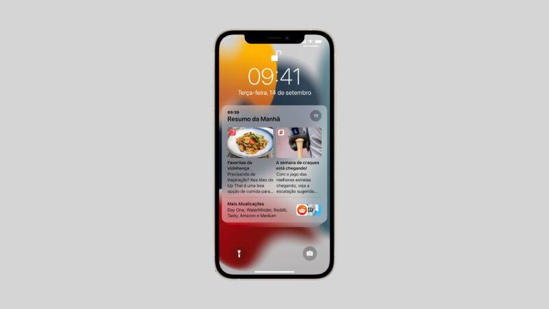 Resumo de notificações no iOS 15