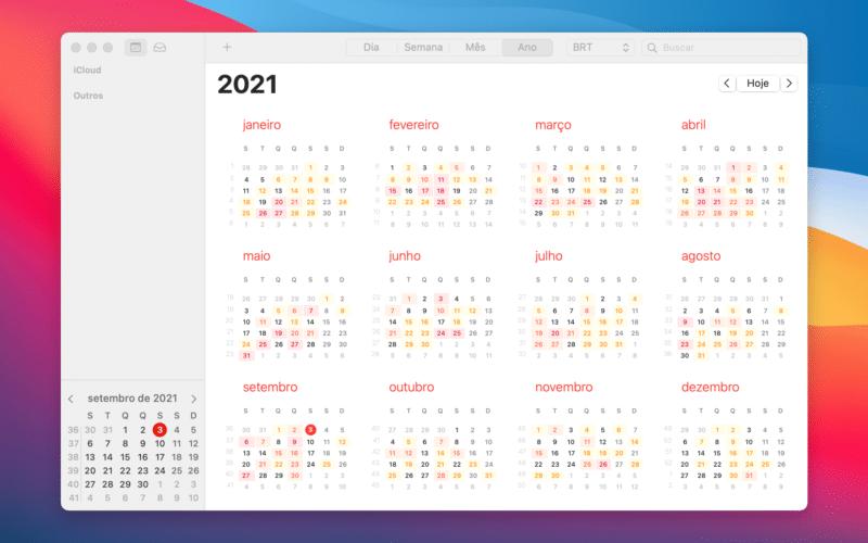 Mostrar número das semanas no Calendário do macOS