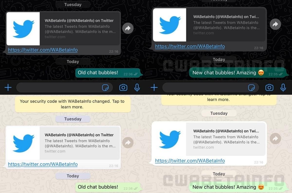 Design das bolhas do WhatsApp