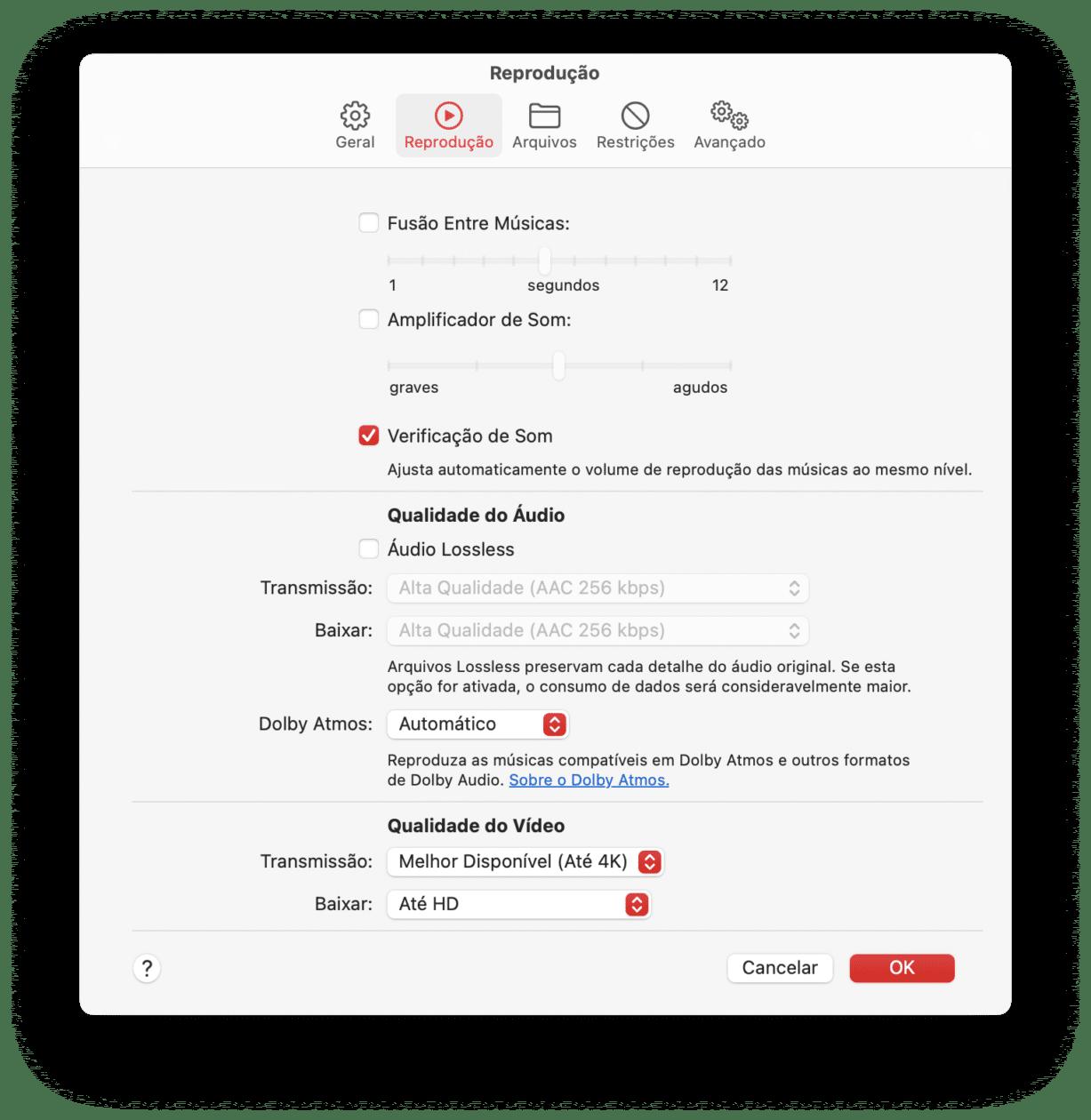 Verificação de som no Mac