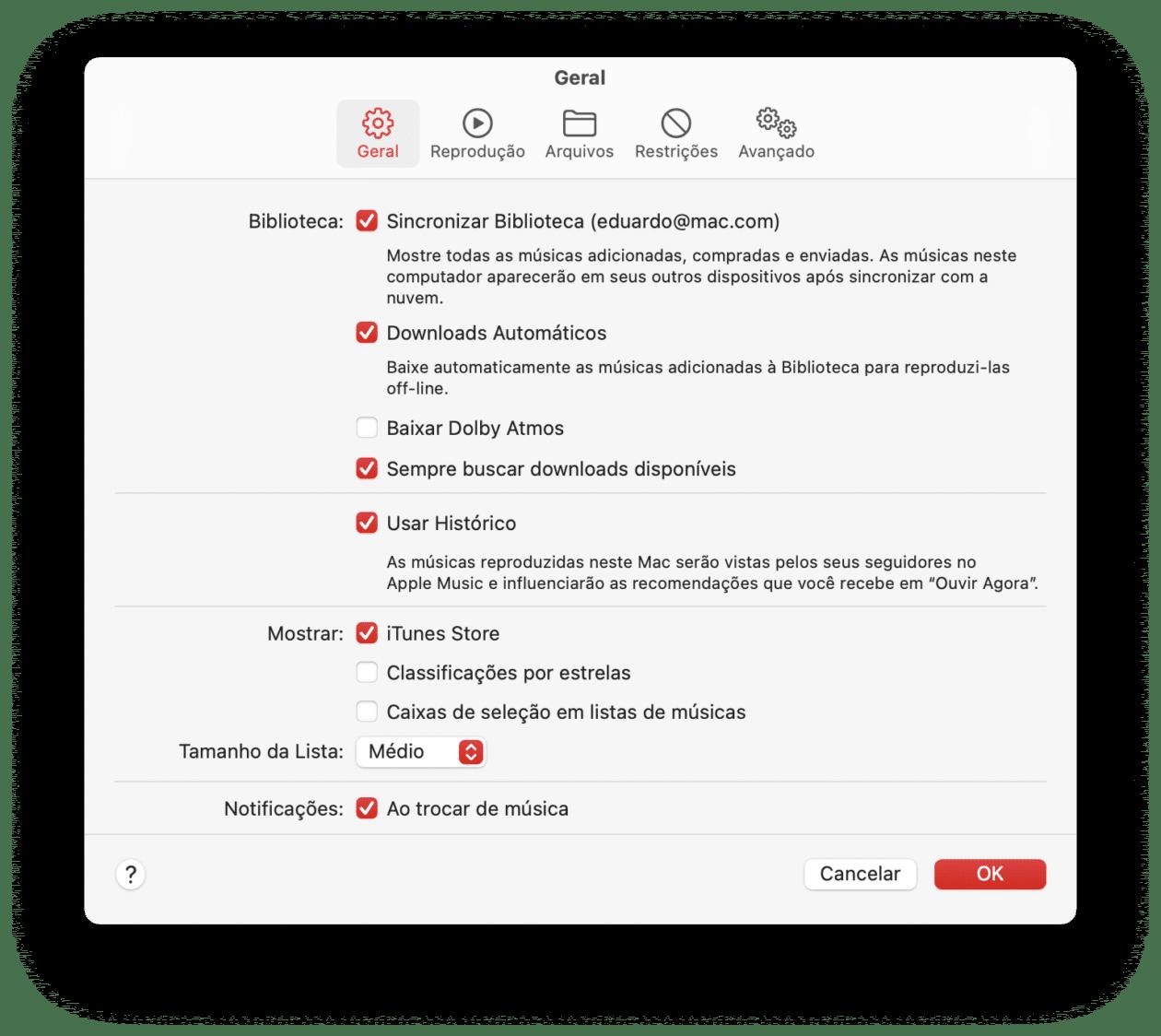 Download automático de músicas no Mac