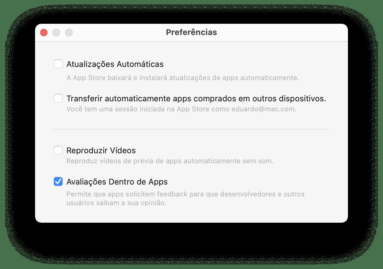 Reproduzir vídeos na App Store