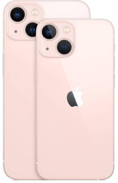 Miniatura dos iPhones 13 e 13 mini