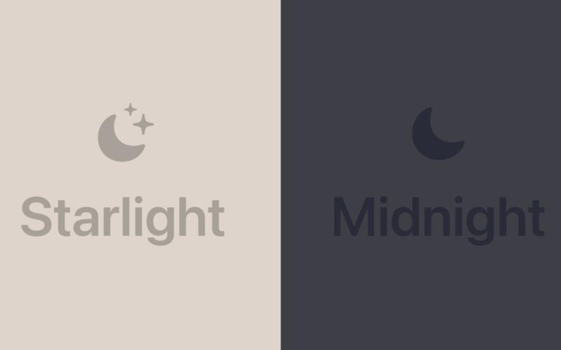 Cores estelar e meia-noite