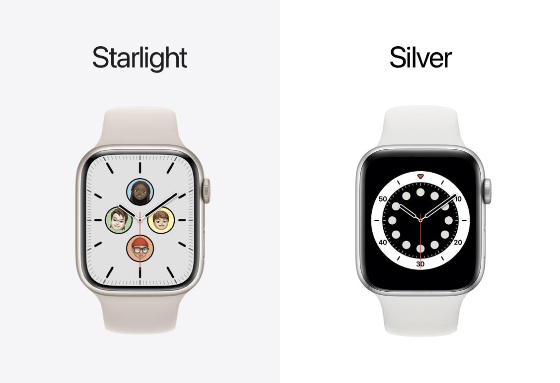 Estelar vs prateado Apple Watch