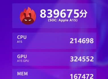 Suposto benchmark AnTuTu do iPhone 13 Pro