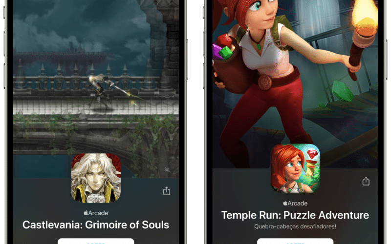 Castlevania e Temple Run no Apple Arcade