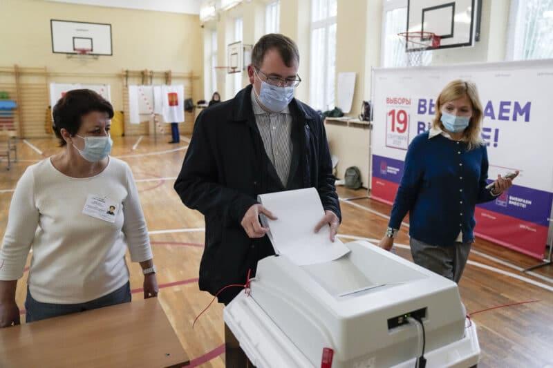 Votação na Rússia