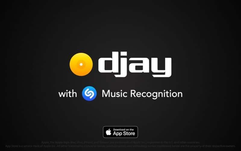 Reconhecimento de música do ShazamKit no app Djay