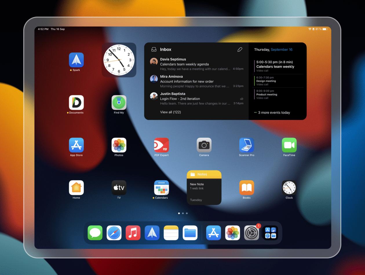 Novo widget para iPad do Spark da Readdle