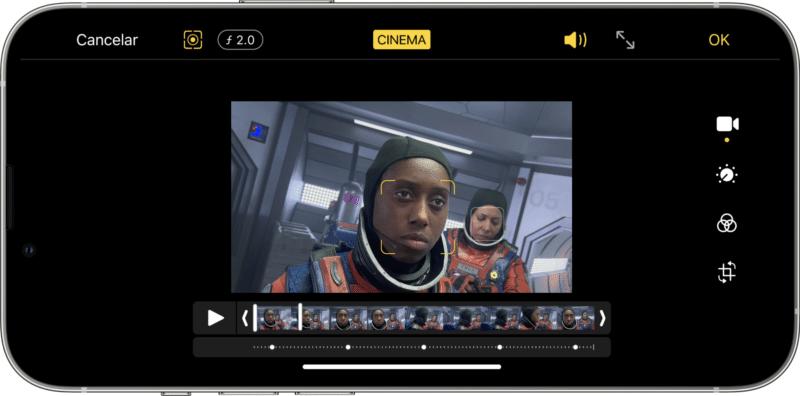 Modo Cinema do iPhone 13