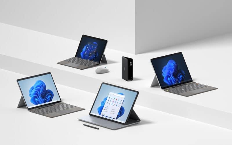 Surface Pro 8, Surface Laptop Studio, Surface Duo 2 e mais dispositivos da Microsoft