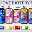 Teste de bateria com novos iPhones (13 Pro Max, 13 Pro, 13, 13 mini)