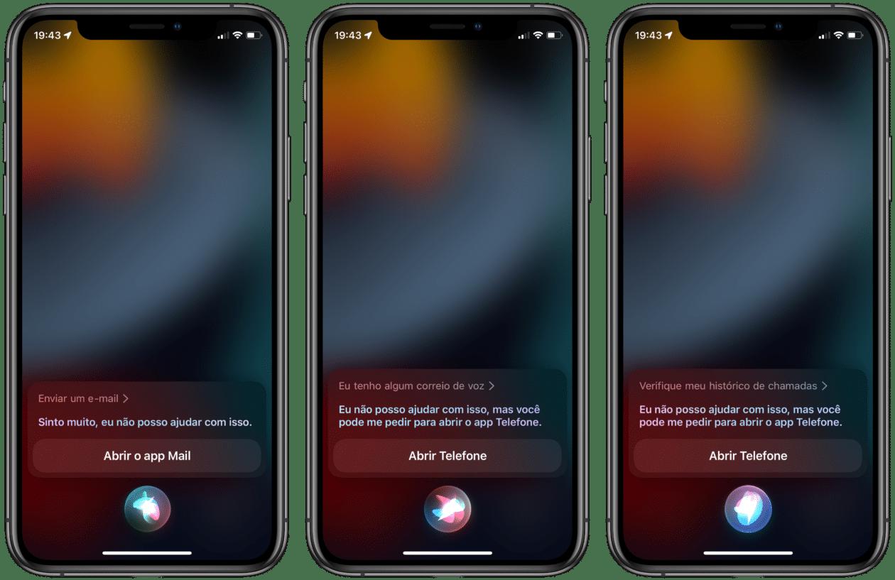 comandos da Siri iOS 15
