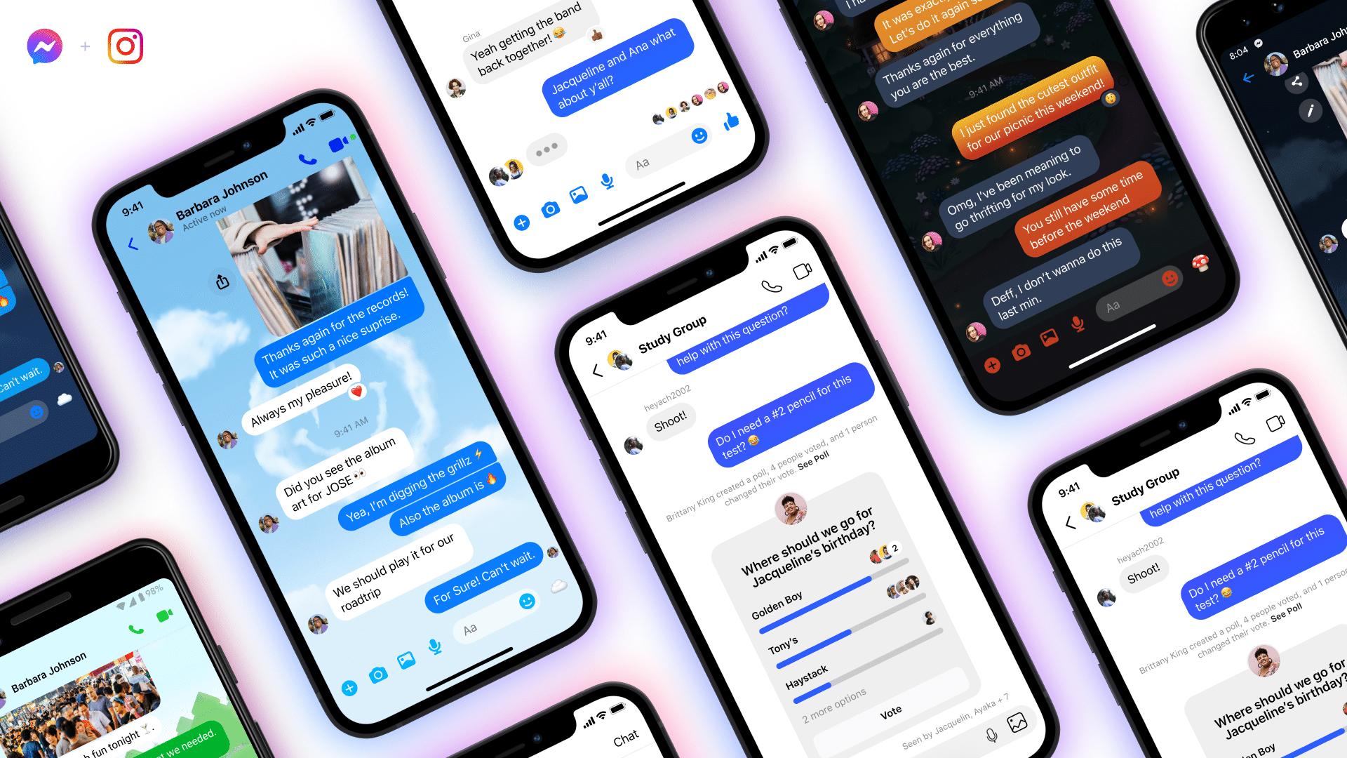 Chats do Facebook Messenger e do Instagram