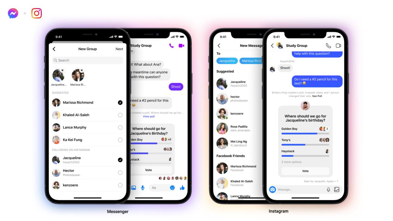 Enquetes no Instagram e no Messenger