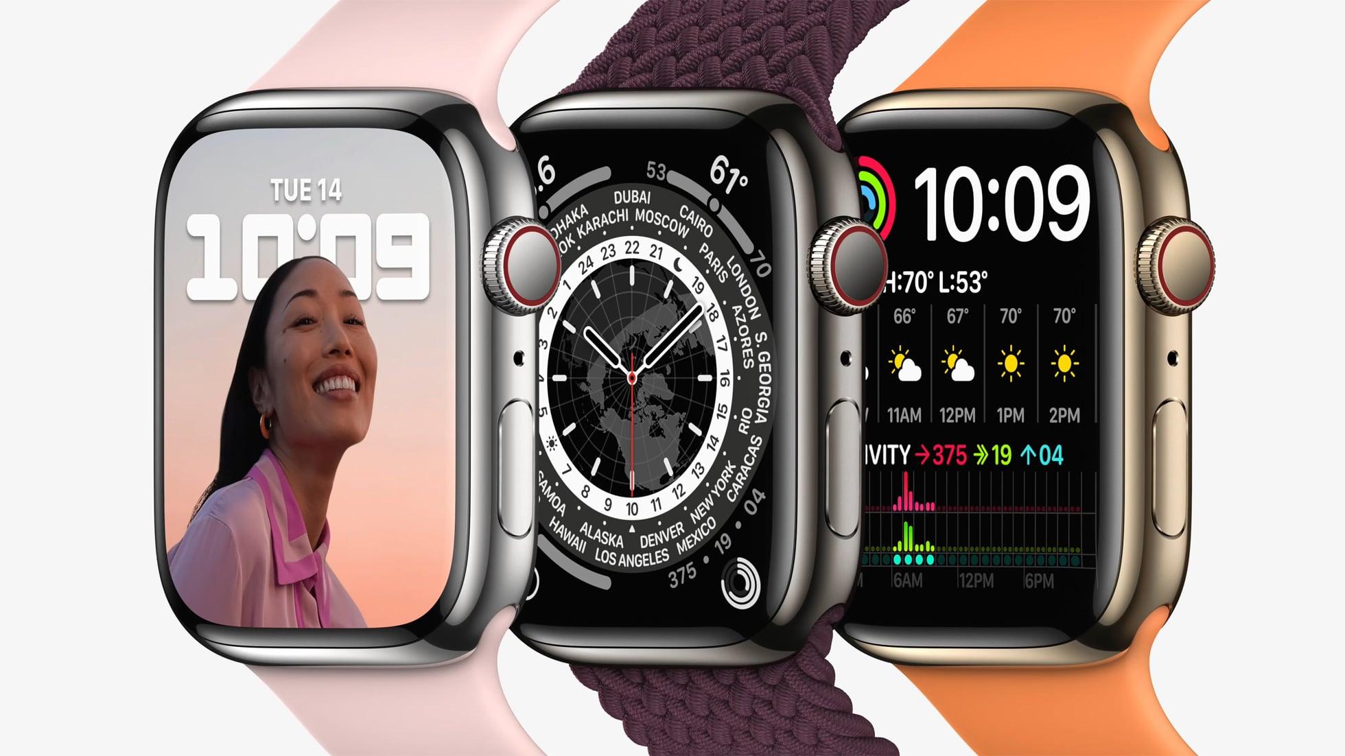 Linha de Apple Watches Series 7