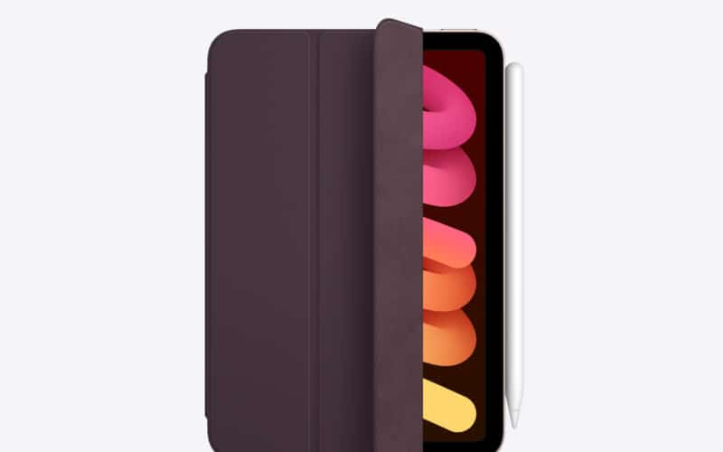 iPad mini com Smart Cover abrindo