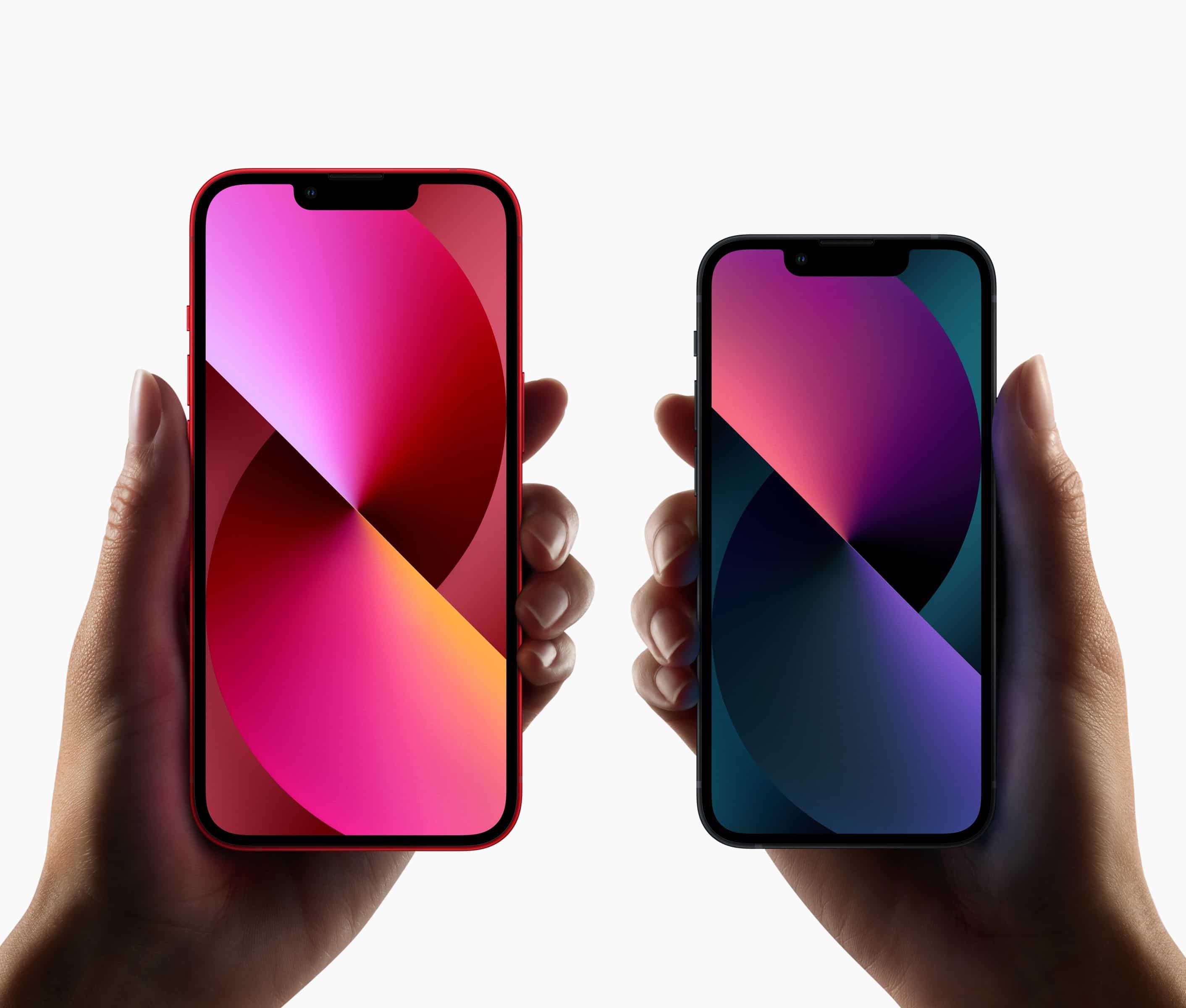iPhones 13 e 13 mini