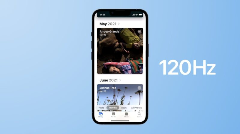 Tela de 120Hz do iPhone 13 Pro