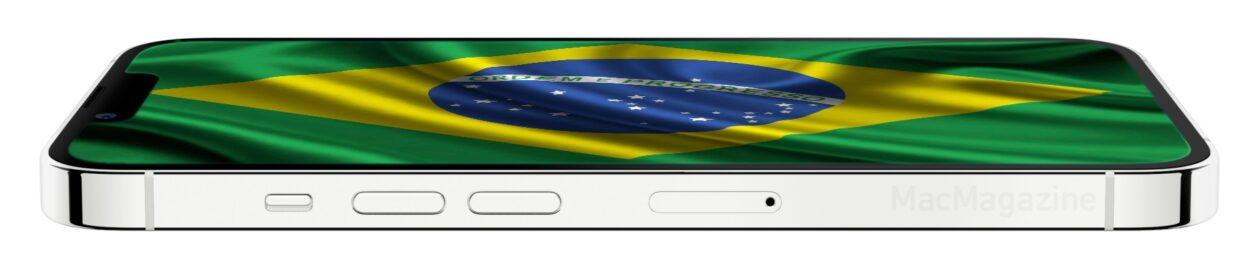 iPhone 13 com a bandeira do Brasil (by MacMagazine)