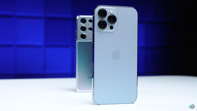 Teste de bateria entre o iPhone 13 Pro Max e o galaxy S21 Ultra